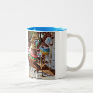 Merry-Go-Round Horses Two-Tone Coffee Mug