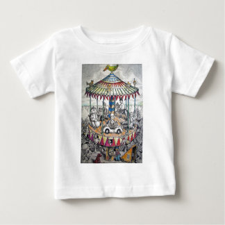 Merry-go-round with clowns baby T-Shirt
