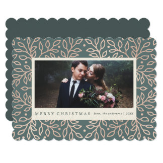 Merry Gold Holiday Photo Card