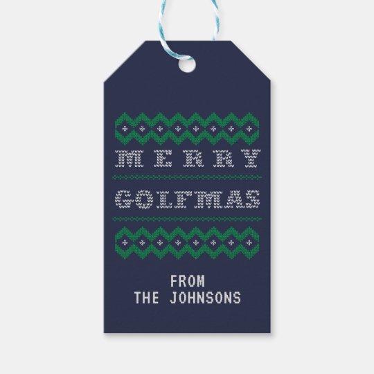 Merry Golfmas Ugly Christmas Gift Tags
