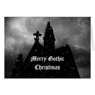 Merry Gothic Christmas card for your text