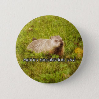 Merry Groundhog Day button