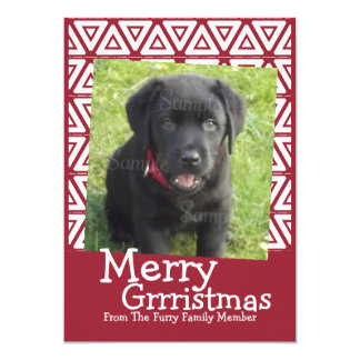 Merry Grrristmas Dog Themed Card