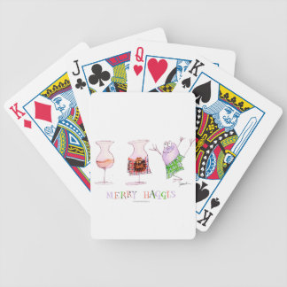 merry haggis bicycle playing cards