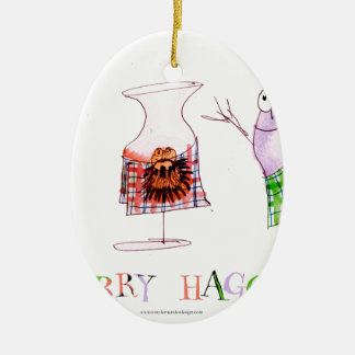 merry haggis ceramic ornament