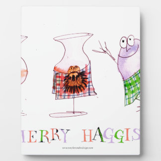 merry haggis plaque