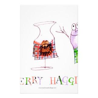 merry haggis stationery