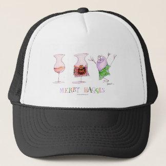 merry haggis trucker hat