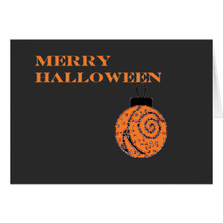 Merry Halloween (with ornament) Card