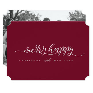 Merry Happy Christmas & New Year Card
