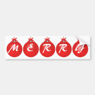 Merry Holiday Custom Red Lace Bumper Sticker