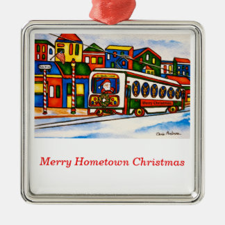 Merry Hometown Media Ornament