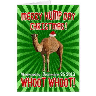 Merry Hump Day Christmas Card