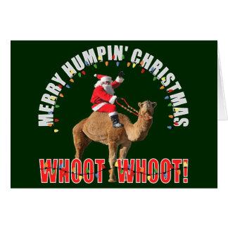 Merry Humpin' Christmas Greeting Card