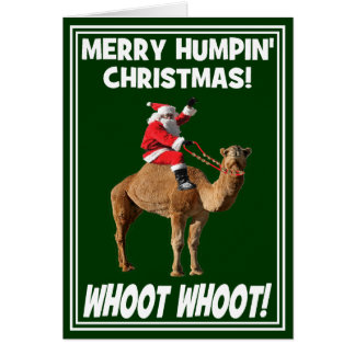 Merry Humpin' Christmas Greeting Card