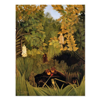 Merry Jesters by Henri Rousseau Postcard