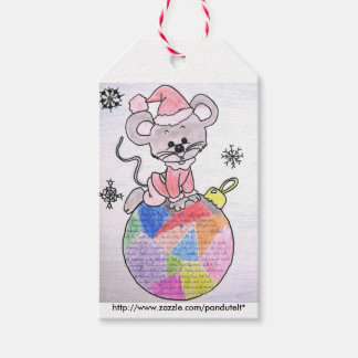 Merry Kids Christmas Gift Tag Mouse Santa Pack Of Gift Tags