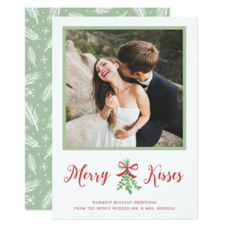 Merry Kisses Holiday Photo Card