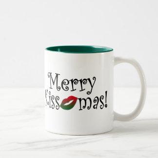 Merry Kissmas Two-Tone Coffee Mug