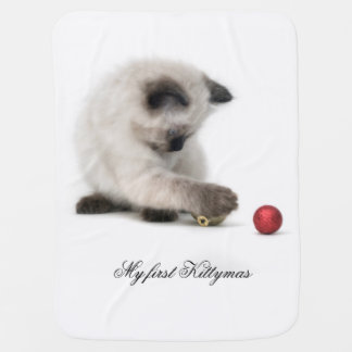 Merry Kittymas baby blanket