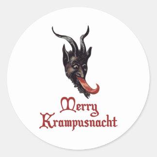 Merry Krampusnacht Classic Round Sticker