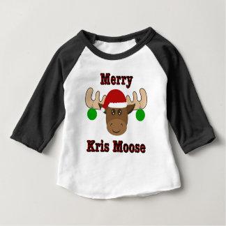 Merry Kris Moose Raglan Toddler Shirt