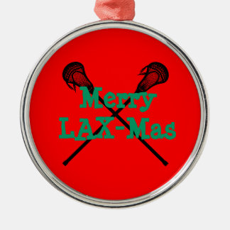 Merry LAX-Mas Metal Ornament