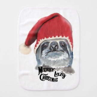 Merry Lazy Christmas Burp Cloth