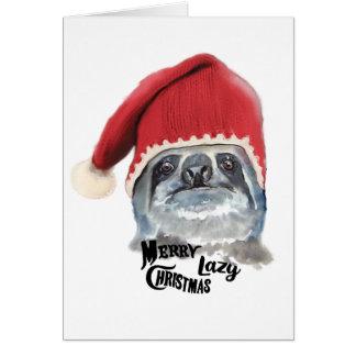 Merry Lazy Christmas Card