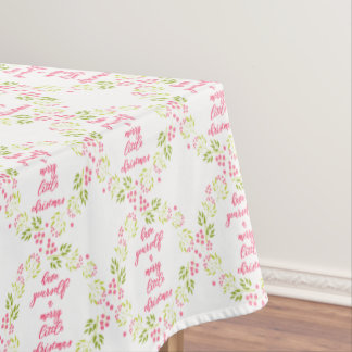 Merry little Christmas - Flower Wreath Tablecloth