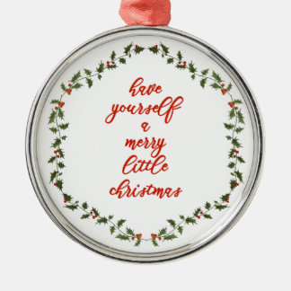 Merry little Christmas - Holly Wreath Ornament