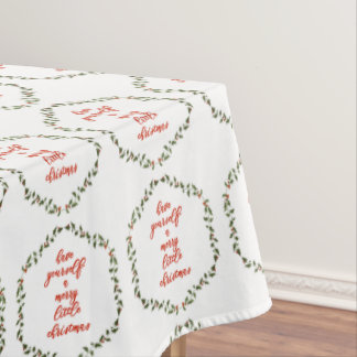 Merry little Christmas - Holly Wreath Tablecloth