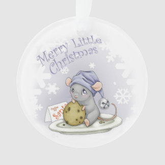 Merry Little Christmas Mouse Ornament