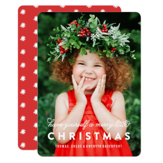 Merry Little Christmas Overlay   Photo Card