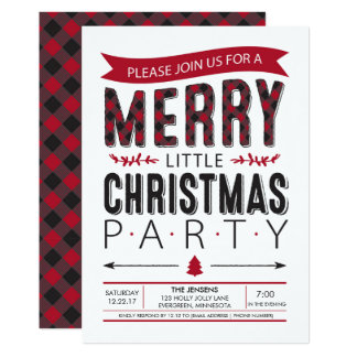 Merry Little Christmas Party Invitation