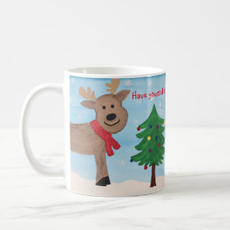 Merry Little Christmas Reindeer Mug