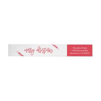 Merry Little Christmas Return Address Label Wraparound Return Address Label
