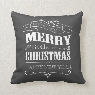 Chalkboard Holiday Decorative Pillows Zazzle Ca