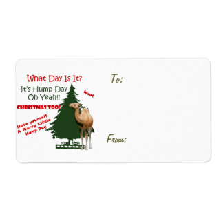 Merry Little Hump Day Christmas Custom Shipping Label