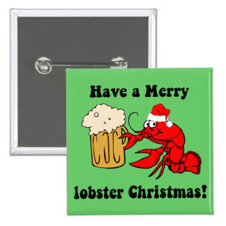 Merry lobster Christmas Pins