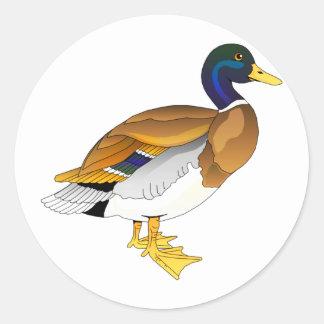 Merry Mallard Classic Round Sticker