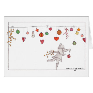 """Merry me"" Ornaments Holiday Notecard"