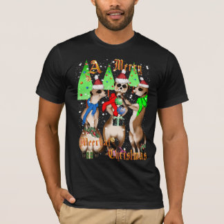 Merry Meerkat Christmas and snow Shirts