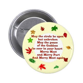 Merry Meet 2 Inch Round Button