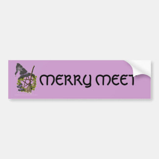 Merry Meet Bumpersticker Bumper Sticker