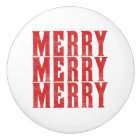merry merry merry ceramic knob