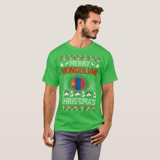 Merry Mongolian Country Christmas Ugly Sweater Tee