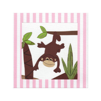 Merry Monkey Stretched Canvas Prints