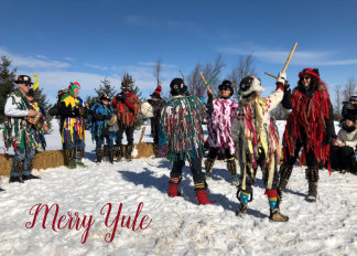 Merry Morris Yule Holiday Card