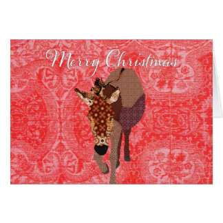 Merry Moses Red  Christmas Greeting Greeting Card